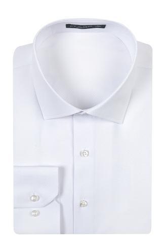 Ds Damat Slim Fit Beyaz Armürlü Gomlek - 8682060785329 | D'S Damat