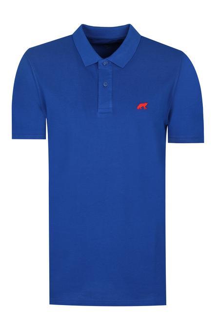 Twn Slim Fit Saks Mavi Pike Dokulu T-shirt - 8682060349378   D'S Damat