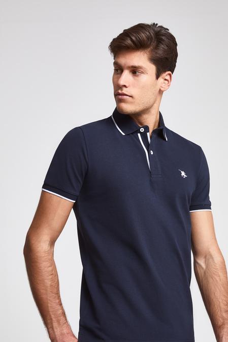 Ds Damat Regular Fit Lacivert Pike Dokulu T-shirt - 8682060050953 | D'S Damat