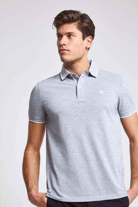 Ds Damat Regular Fit Gri Pike Dokulu T-shirt - 8682060052131 | D'S Damat