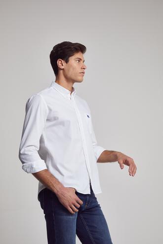 Ds Damat Regular Fit Beyaz Armürlü Gömlek - 8682060081834 | D'S Damat