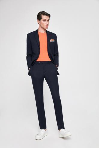 Twn Slim Fit Slim Fit Lacivert Armürlü Takim Elbise - 8682060080776 | D'S Damat