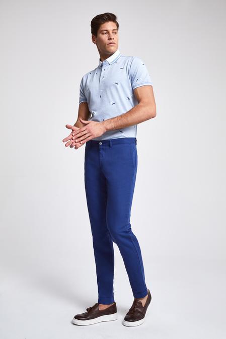 Twn Slim Fit Lacivert Düz Kumaş Pantolon - 8682060354204 | D'S Damat