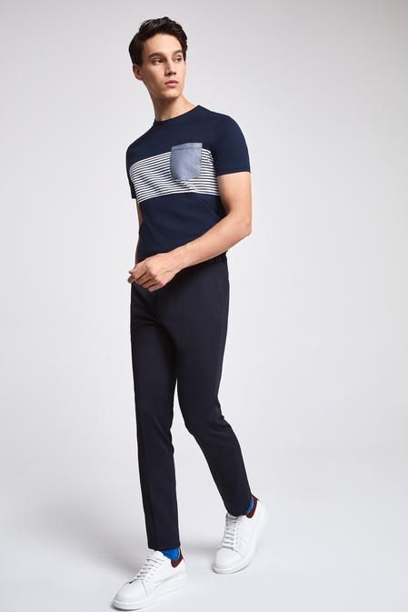Twn Slim Fit Lacivert Pantolon - 8682060236081 | D'S Damat