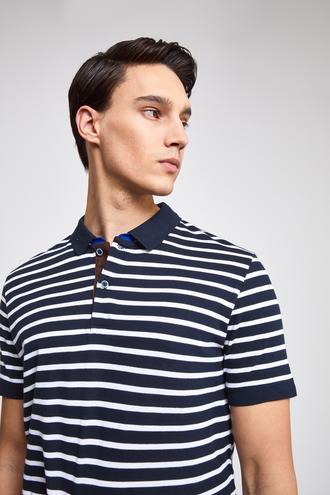 Ds Damat Slim Fit Lacivert T-Shirt - 8682060045751 | D'S Damat