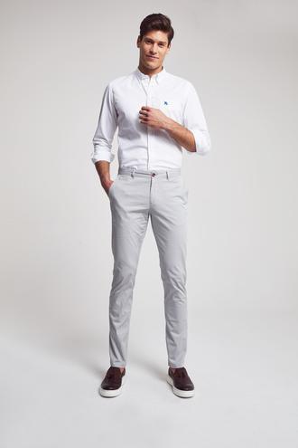Ds Damat Slim Fit Gri Baskılı Chino Pantolon - 8682060158741 | D'S Damat