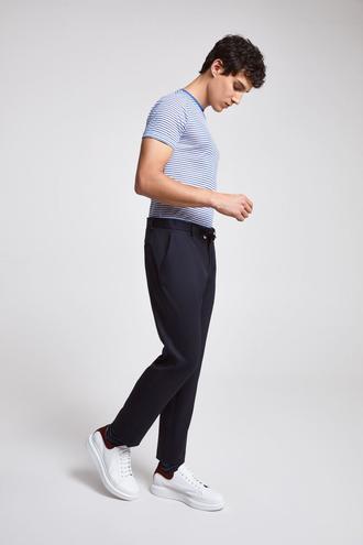 Twn Slim Fit Lacivert Gabardin Pantolon - 8682060196156 | D'S Damat