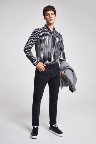 Twn Slim Fit Lacivert Düz Pantolon - 8681779808428 | D'S Damat
