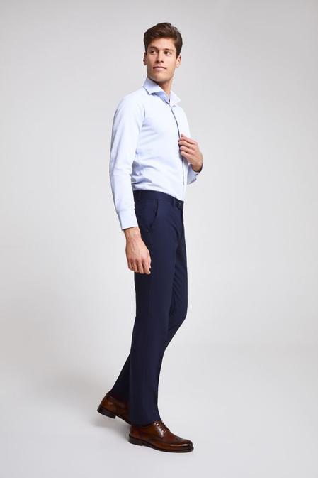 Ds Damat Slim Fit Lacivert Armürlü Pantolon - 8681779963189 | D'S Damat