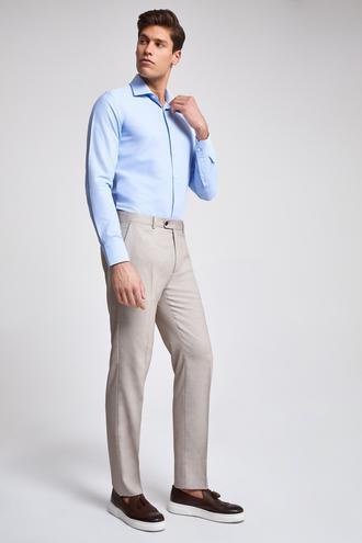 Twn Slim Fit Bej Armürlü Pantolon - 8682060075918 | D'S Damat