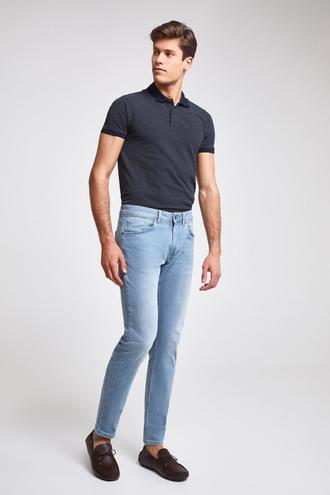 Ds Damat Slim Fit Mavi Taşlı Denim Pantolon - 8682060925428 | D'S Damat