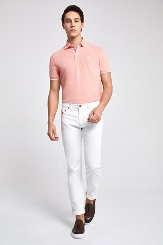 Ds Damat Beyaz Düz Denim Pantolon - 8682060367495 | D'S Damat