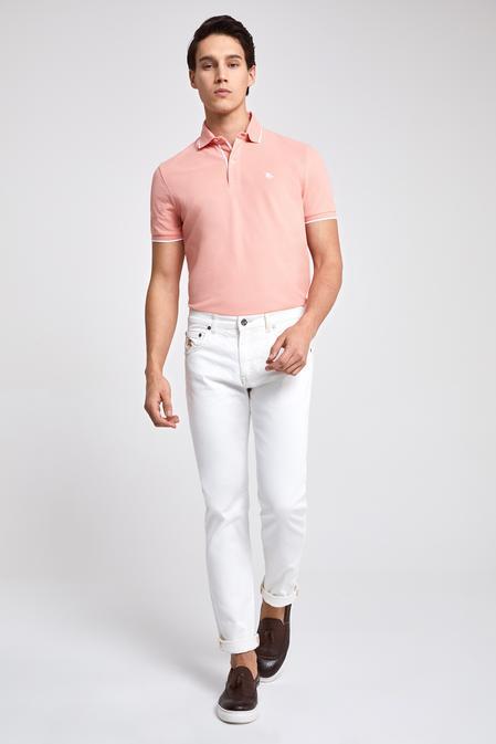 Ds Damat Slim Fit Beyaz Düz Denım Pantolon - 8682060367495 | D'S Damat