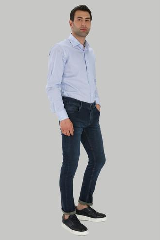 Twn Super Slim Fit Lacivert Taşlı Denım Pantolon - 8682060349538 | D'S Damat