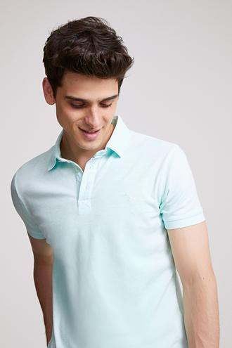 Ds Damat Slim Fit Mint Pike Dokulu T-shirt - 8682445309355 | D'S Damat