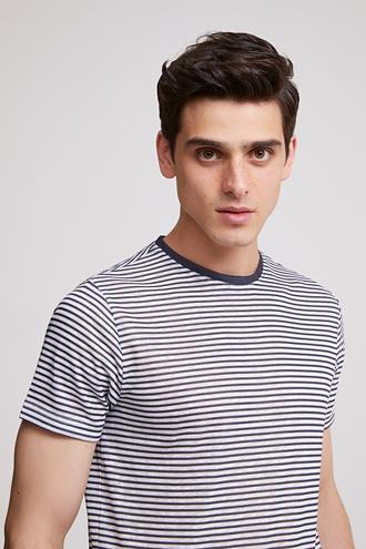 Twn Slim Fit Lacivert T-Shirt - 8682060044846 | D'S Damat