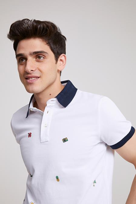 Twn Slim Fit Beyaz Baskılı T-shirt - 8682060495228 | D'S Damat