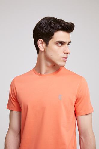 Twn Slim Fit Turuncu Düz T-shirt - 8681779909156 | D'S Damat