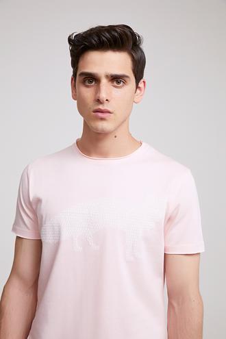 Twn Slim Fit Pembe Düz T-Shirt - 8682060347664 | D'S Damat