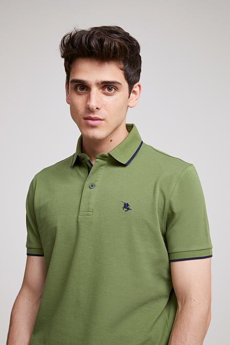 Ds Damat Regular Fit Haki Pike Dokulu T-shirt - 8682060051660 | D'S Damat