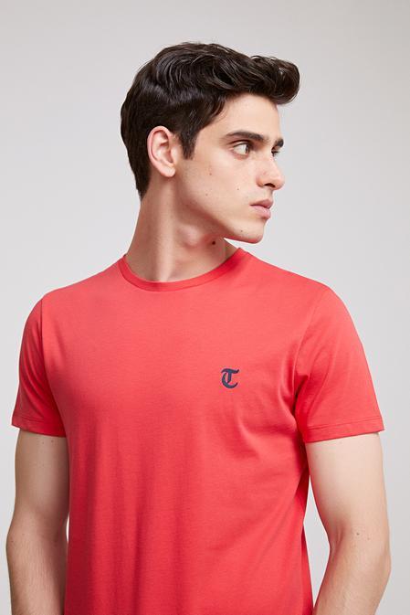 Twn Slim Fit Nar Çiçeği Düz T-shirt - 8682060058430 | D'S Damat