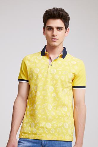 Ds Damat Slim Fit Sarı T-shirt - 8681779113355 | D'S Damat