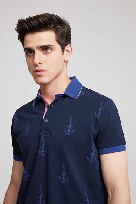 Ds Damat Regular Fit Lacivert T-shirt - 8681779113652   D'S Damat