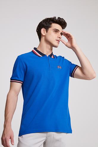 Ds Damat Regular Fit Saks Mavi T-shirt - 8681779115069 | D'S Damat