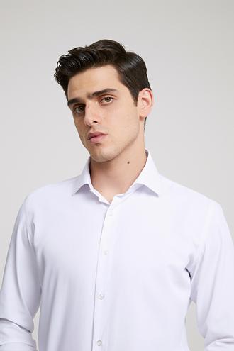 Ds Damat Slim Fit Beyaz Armürlü Gomlek - 8682060785411 | D'S Damat