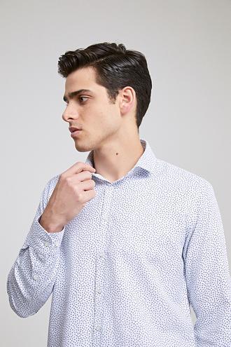Twn Slim Fit Beyaz Baskılı Gomlek - 8682060785800 | D'S Damat