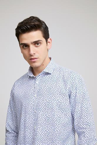 Twn Slim Fit Beyaz Baskılı Gömlek - 8682060786005 | D'S Damat