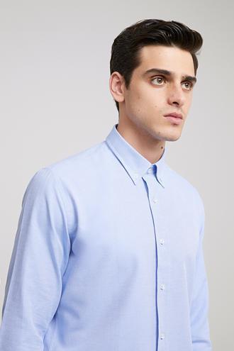 Ds Damat Slim Fit Mavi Oxford Gömlek - 8682060785534 | D'S Damat