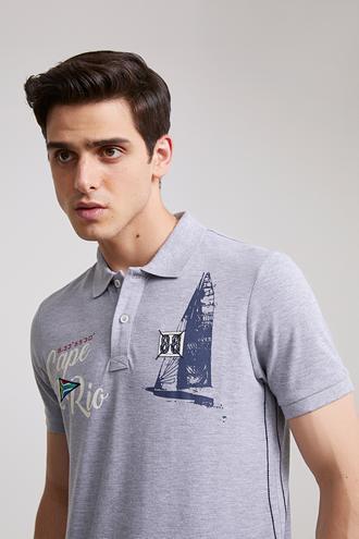 Ds Damat Slim Fit Gri T-Shirt - 8681779867593 | D'S Damat