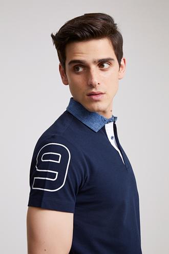 Ds Damat Slim Fit Lacivert T-Shirt - 8681779868125 | D'S Damat