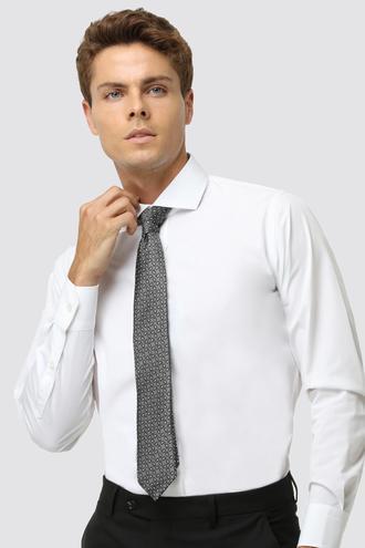 Ds Damat Slim Fit Beyaz Düz Gomlek - 8682060153340 | D'S Damat