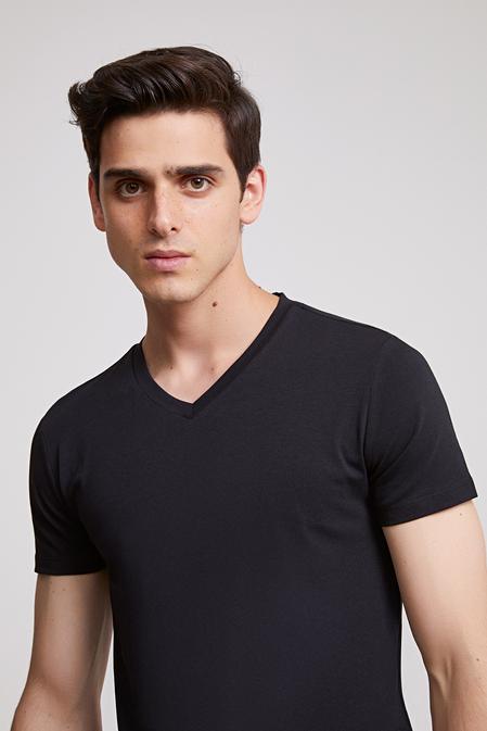 Ds Damat Slim Fit Siyah T-shirt - 8682060252043 | D'S Damat