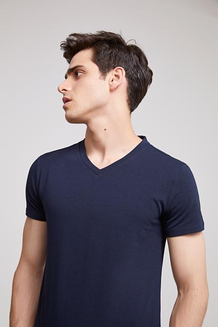 Ds Damat Slim Fit Lacivert T-shirt - 8682060252074 | D'S Damat