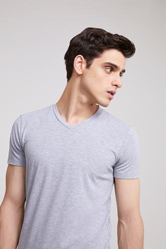 Ds Damat Slim Fit Gri T-shirt - 8682060252128 | D'S Damat
