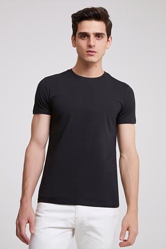 Ds Damat Slim Fit Siyah T-shırt - 8682060252234 | D'S Damat
