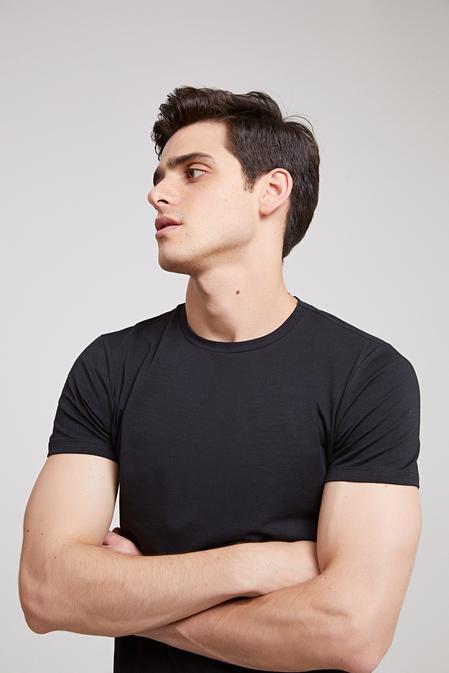 Ds Damat Slim Fit Siyah T-shirt - 8682060252234 | D'S Damat