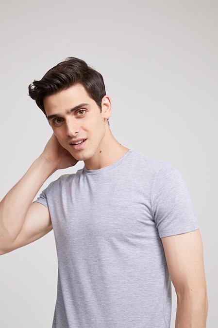 Ds Damat Slim Fit Gri T-shirt - 8682060252326 | D'S Damat