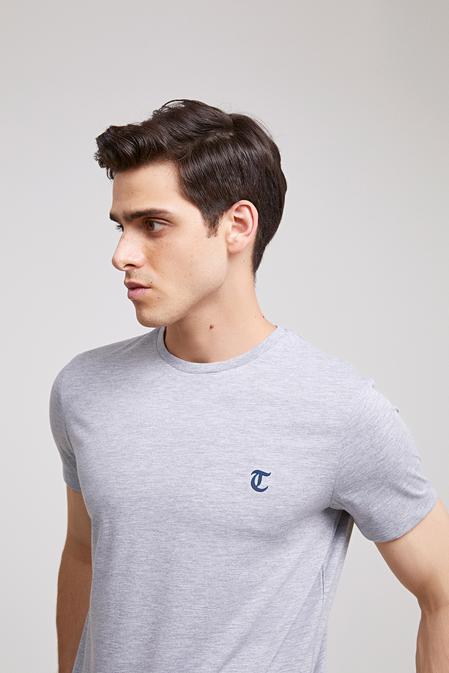 Twn Slim Fit Gri Düz T-shirt - 8682060049865 | D'S Damat