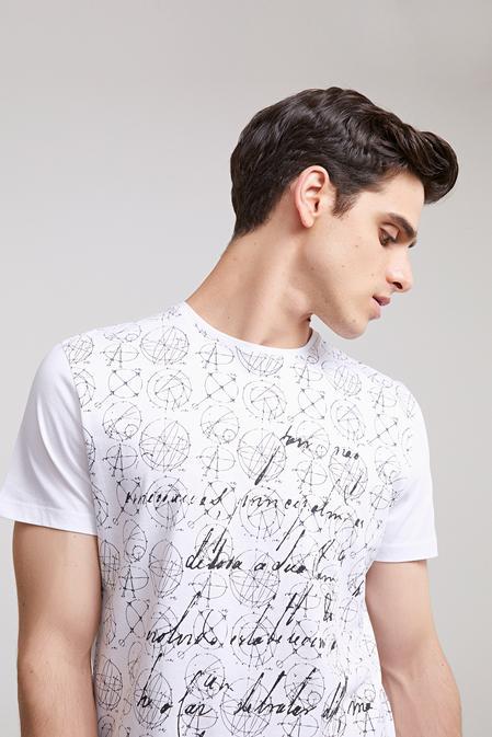Ds Damat Regular Fit Beyaz T-shirt - 8681779115434   D'S Damat