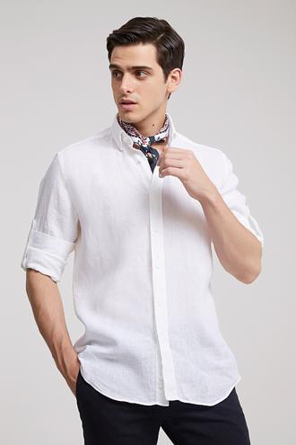 Ds Damat Regular Fit Beyaz Düz Gömlek - 8682445292114 | D'S Damat