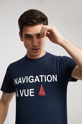 Ds Damat Regular Fit Lacivert Baskılı T-shirt - 8681779188902 | D'S Damat