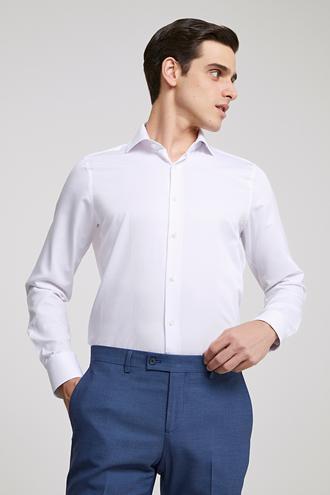 Ds Damat Slim Fit Beyaz Gömlek - 8681779951865 | D'S Damat