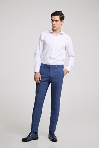 Twn Slim Fit İndigo Armürlü Pantolon - 8681779797111 | D'S Damat
