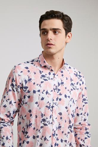 Twn Slim Fit Karma Renk Baskılı Vual Gömlek - 8682060346933 | D'S Damat