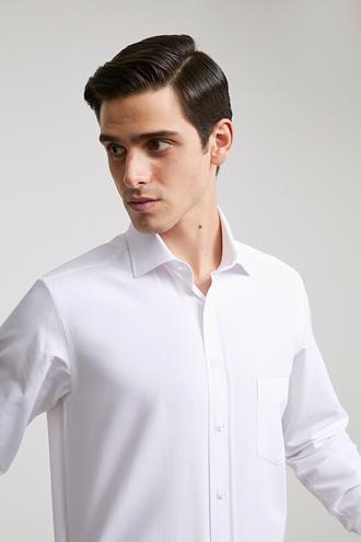 Ds Damat Regular Fit Beyaz Düz Gömlek - 8681779990642 | D'S Damat