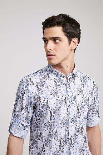Twn Slim Fit Karma Renk Baskılı Gömlek - 8681779026136 | D'S Damat